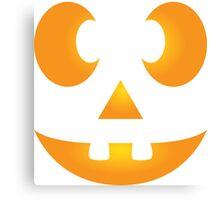 Funny Halloween Jack-O-Lantern Face Canvas Print