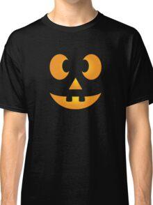 Funny Halloween Jack-O-Lantern Face Classic T-Shirt