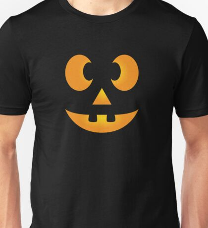 Funny Halloween Jack-O-Lantern Face Unisex T-Shirt