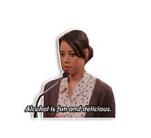April Ludgate - alcohol is fun Photographic Print