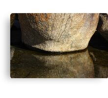 Rock Reflected Canvas Print