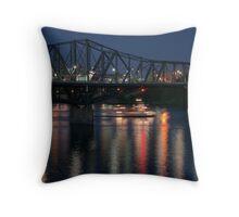 bridge & reflection Throw Pillow