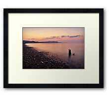 Blue Anchor Bay, Somerset Framed Print
