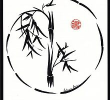 PASSAGE  - Original sumi-e enso ink brush art by Rebecca Rees