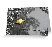 A LEAF IN A PUDDLE Greeting Card