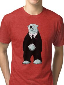 Be Cool Polar Bear. Tri-blend T-Shirt