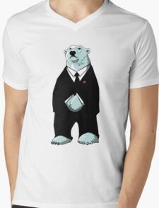 Be Cool Polar Bear. Mens V-Neck T-Shirt