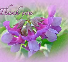 Thank You Card Beach Pea Wildflower by MotherNature