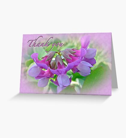 Thank You Card Beach Pea Wildflower Greeting Card