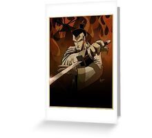 Jack the Samurai Greeting Card