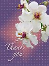 Thank You Card White Moth Mullein Wildflower by MotherNature