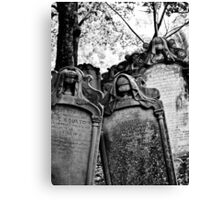 Leaning Graves Canvas Print