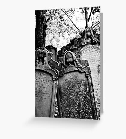 Leaning Graves Greeting Card