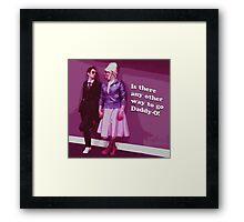 10 & Rose Framed Print