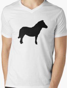 Shetland Miniature Pony Mens V-Neck T-Shirt
