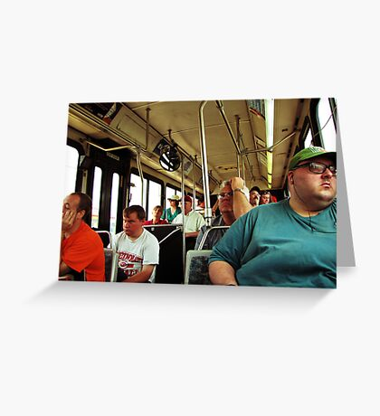 A Day On The Bus Greeting Card