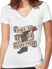 Adventurer Like You Women's Fitted V-Neck T-Shirt