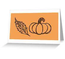 Autumn Pumpkin Sketch Greeting Card