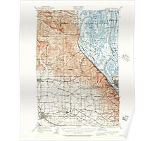 USGS Topo Map Oregon Hillsboro 282579 1915 62500 Poster