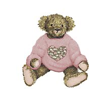 Teddy Bear with Pink Jumper Photographic Print