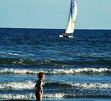 A Kid and A Cat (Catamaran) by Karen L Ramsey