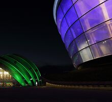 Glasgow Clyde Auditorium and The SSE Hydro at Night by Maria Gaellman