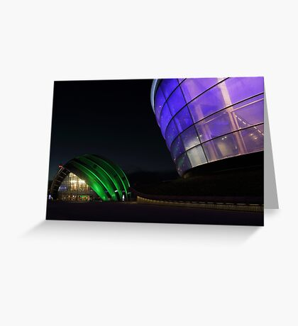 Glasgow Clyde Auditorium and The SSE Hydro at Night Greeting Card