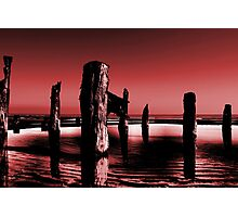 spurn breakwater Photographic Print