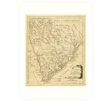 Map of the Province of South Carolina in North America (1779) Art Print