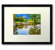 Bata canal, picture adjusted to the style of painting, oil painting Framed Print