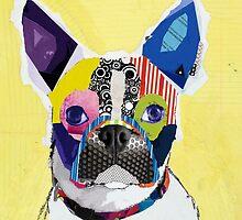 Boston terrier art by Mrcts22