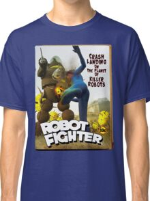 Robot Fighter Fake Pulp Cover 2 Classic T-Shirt