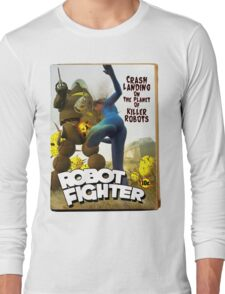 Robot Fighter Fake Pulp Cover 2 Long Sleeve T-Shirt