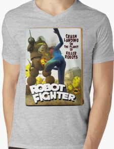 Robot Fighter Fake Pulp Cover 2 T-Shirt