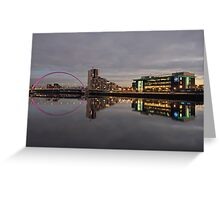 Glasgow River Clyde at Sunset Greeting Card