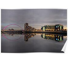 Glasgow River Clyde at Sunset Poster
