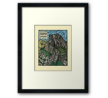 Half Dome Water Color Framed Print