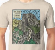 Half Dome Water Color Unisex T-Shirt