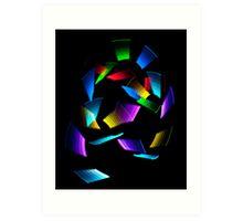 Neon Squiggle Art Print