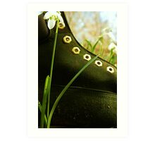 Boot In The Undergrowth Art Print