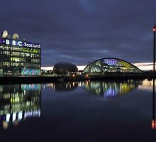 Glasgow River Clyde at Sunset by Maria Gaellman