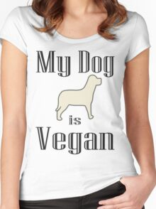 My Dog is Vegan Women's Fitted Scoop T-Shirt
