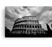 Colosseum in Black and White Canvas Print