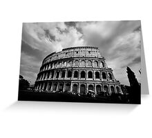Colosseum in Black and White Greeting Card