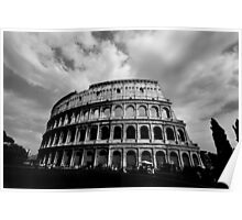 Colosseum in Black and White Poster