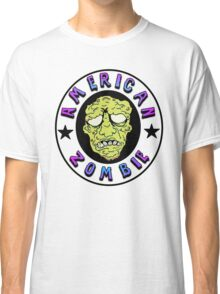 American Zombie Circle Face  Classic T-Shirt