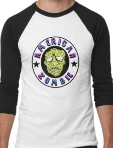 American Zombie Circle Face  Men's Baseball ¾ T-Shirt