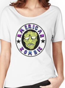 American Zombie Circle Face  Women's Relaxed Fit T-Shirt