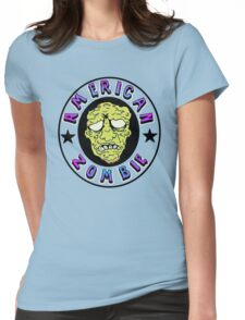 American Zombie Circle Face  Womens Fitted T-Shirt