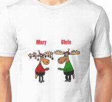 Funny Mary Chris Moose Christmas Art Unisex T-Shirt